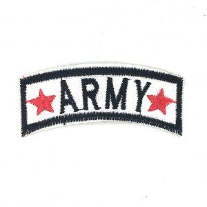 Armee Text Emblem Bügeln Patch mit roten Sternen