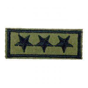 Army Green Bügelbild mit drei Army Rank Stars