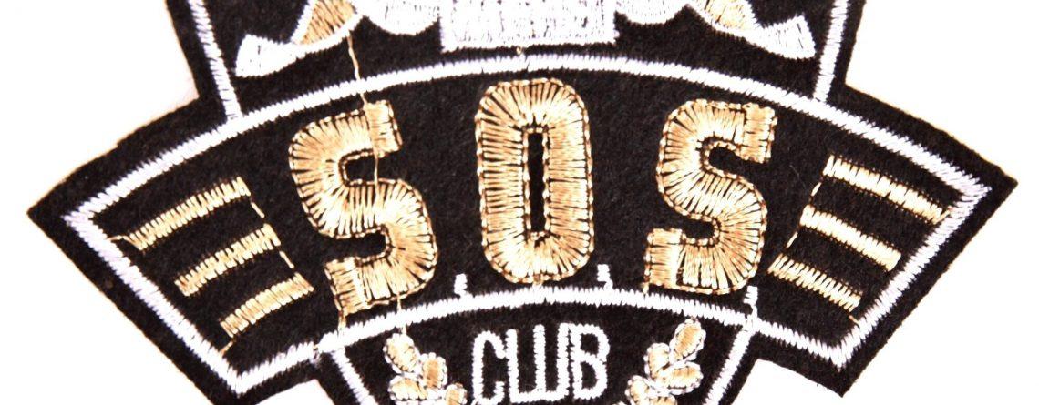 Bügelbild mit SOS- und CLUB-Text